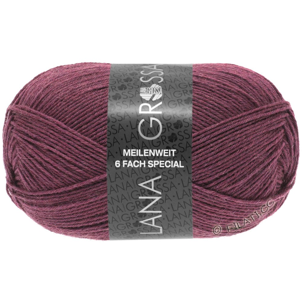 Lana Grossa MEILENWEIT 6-FACH 150g Uni/Tweed | 9225-bær