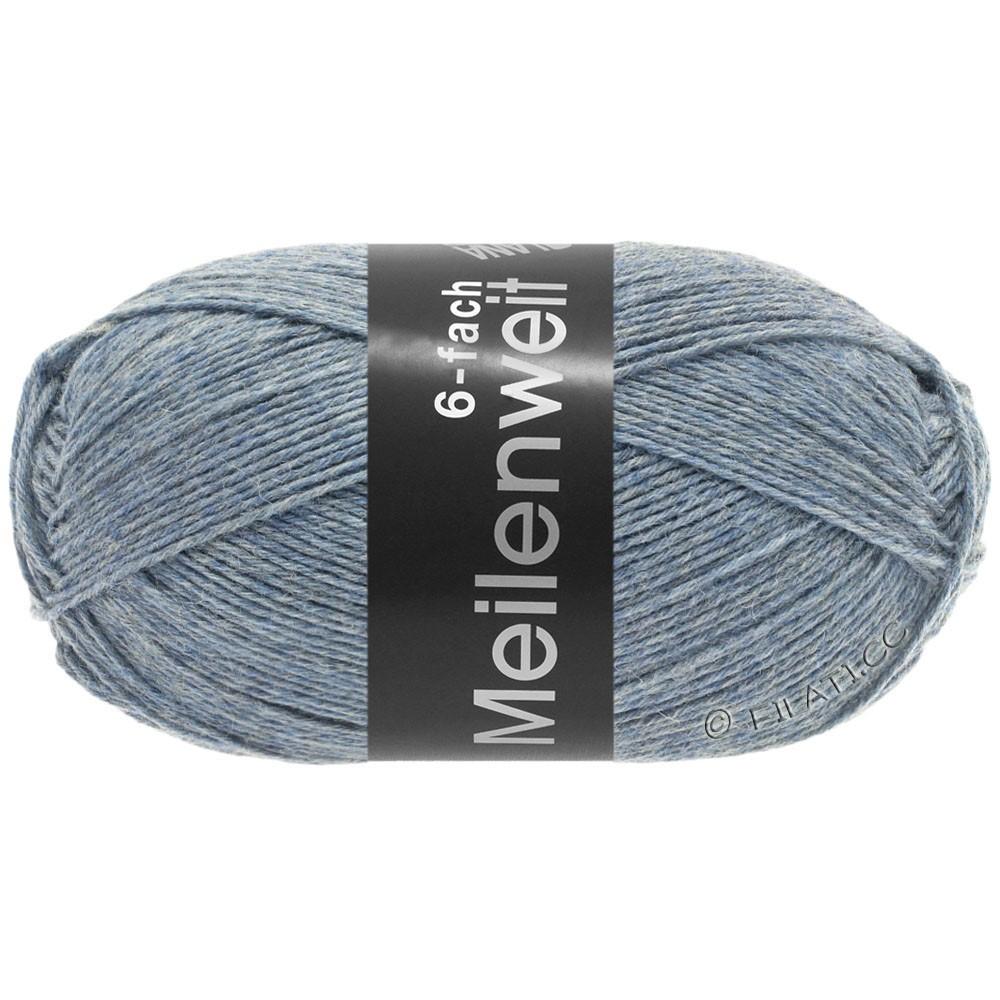 Lana Grossa MEILENWEIT 6-FACH 150g Uni/Tweed | 9226-lyseblå meleret