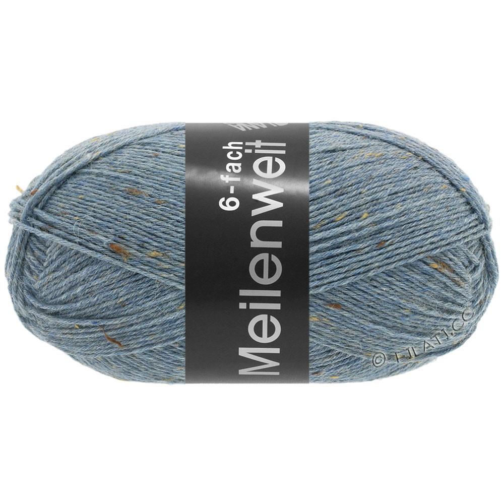 Lana Grossa MEILENWEIT 6-FACH 150g Print/Tweed | 9227-jeans blå meleret