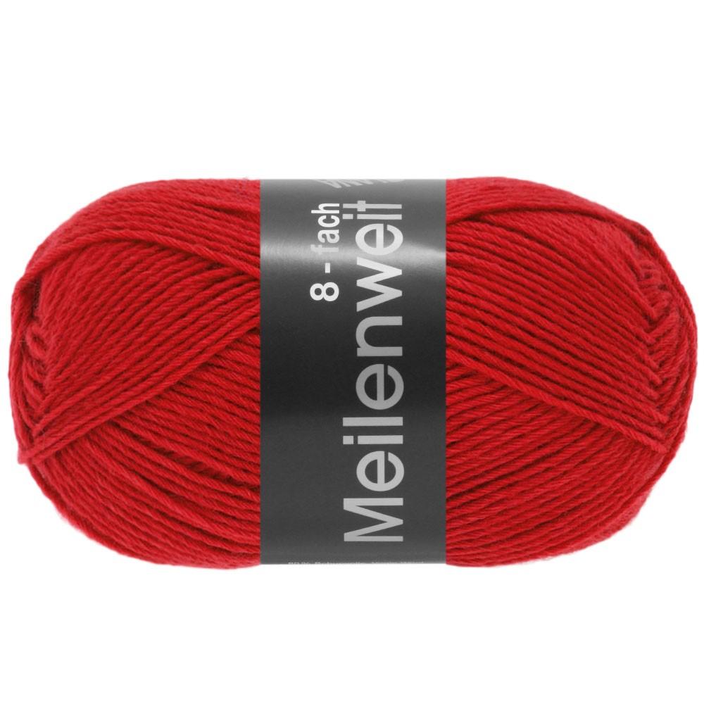 Lana Grossa MEILENWEIT 8-FACH 100g Uni | 9555-rød