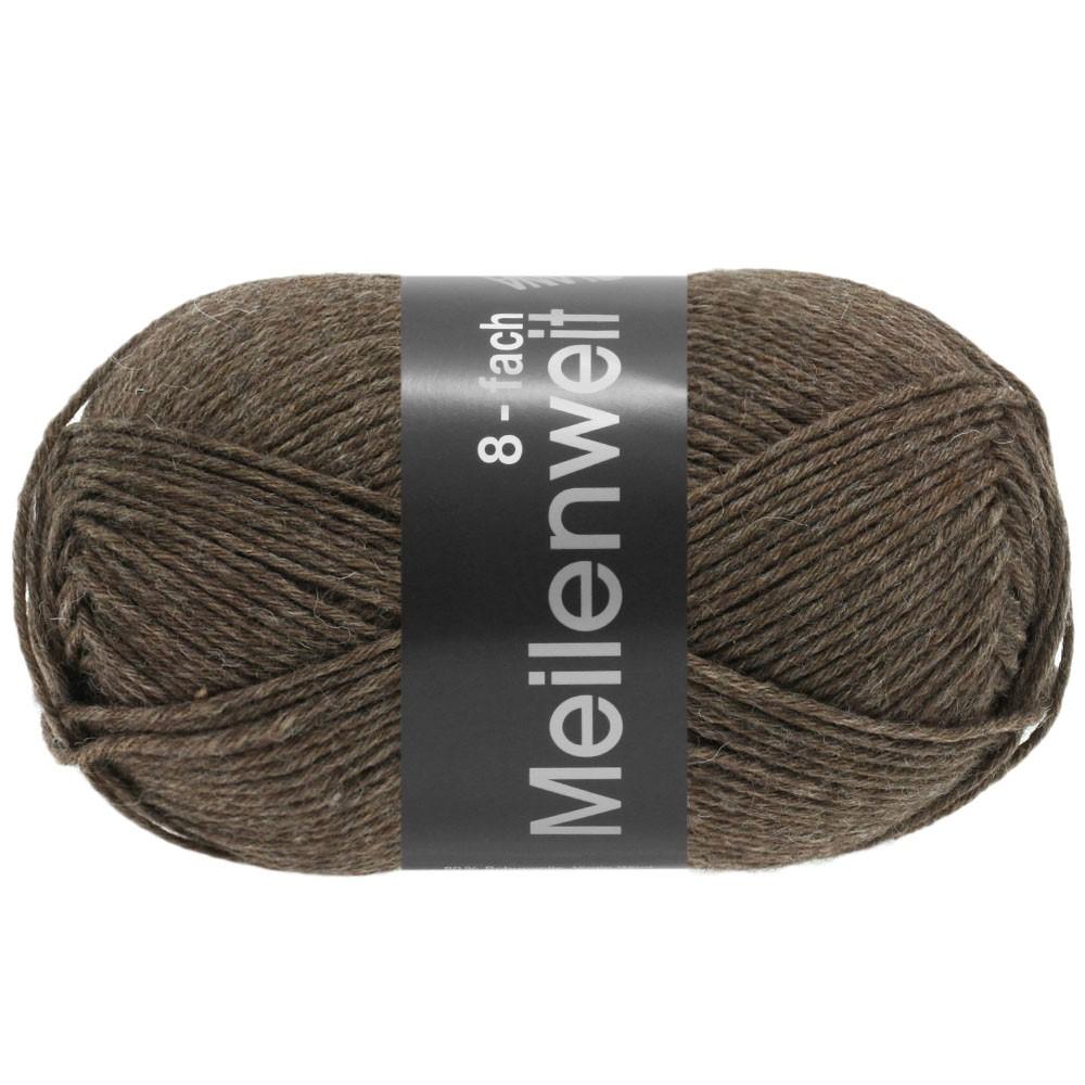 Lana Grossa MEILENWEIT 8-FACH 100g Uni | 9612-brun