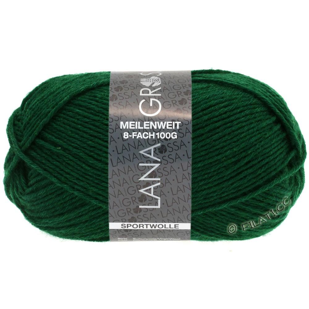 Lana Grossa MEILENWEIT 8-FACH 100g Uni | 9665-flaske grøn
