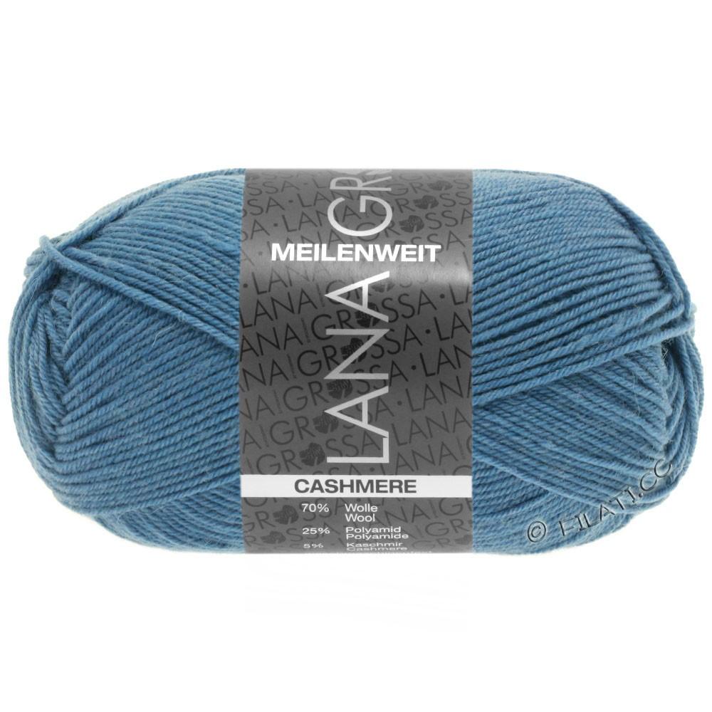 Lana Grossa MEILENWEIT 50g Cashmere | 18 -jeans blå