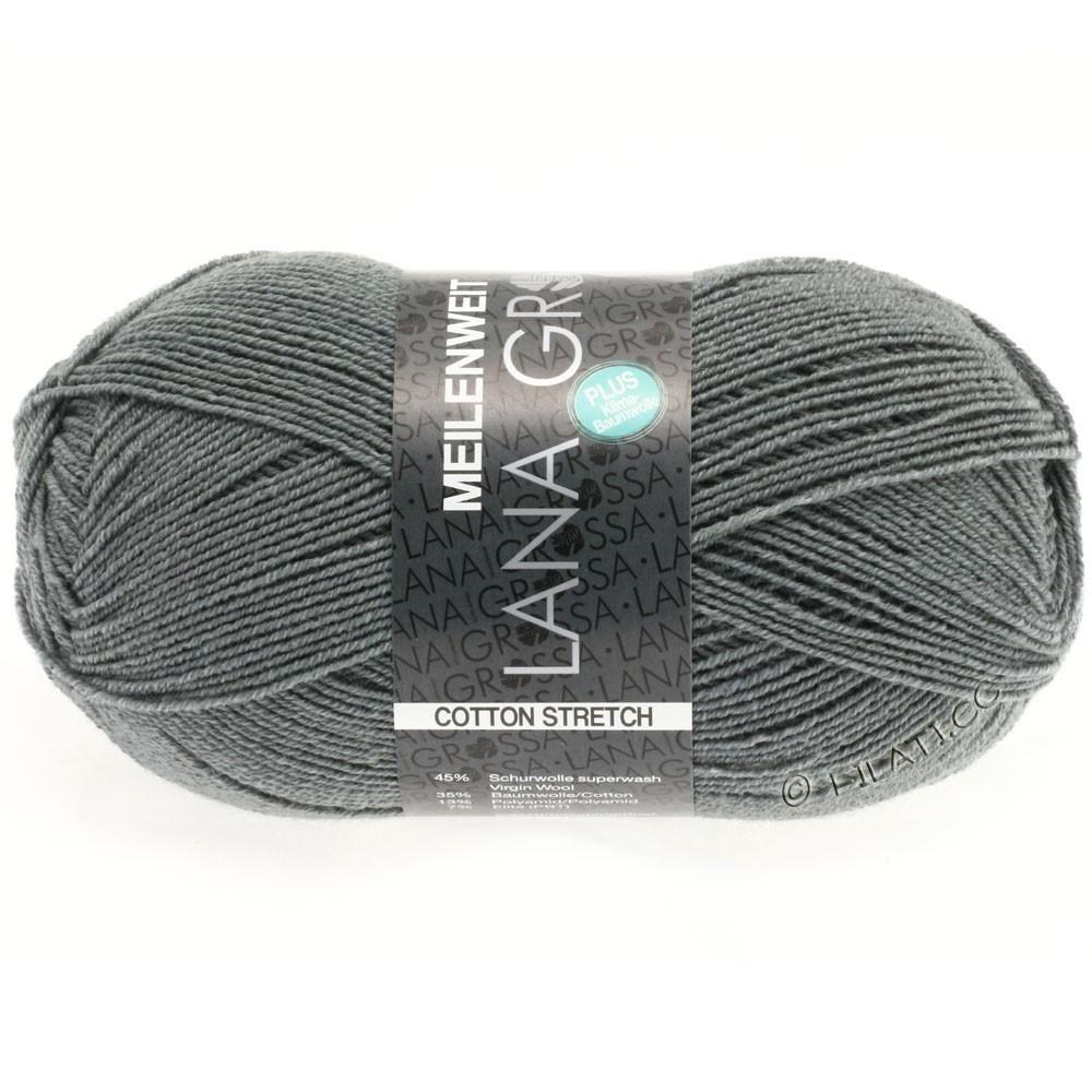 Lana Grossa MEILENWEIT 100g Cotton Stretch | 8011-mørkegrå