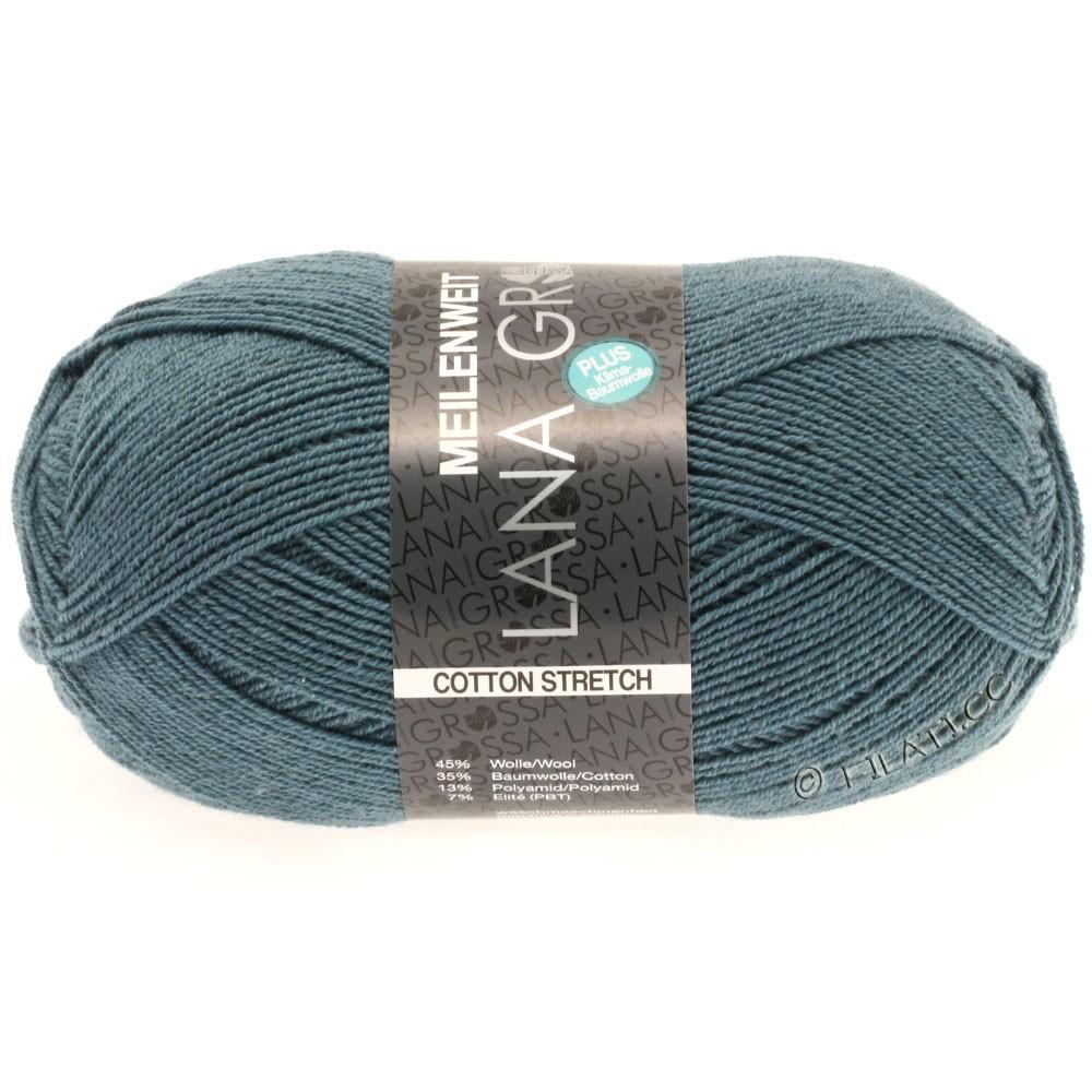 Lana Grossa MEILENWEIT 100g Cotton Stretch | 8012-gråblå/gråblå