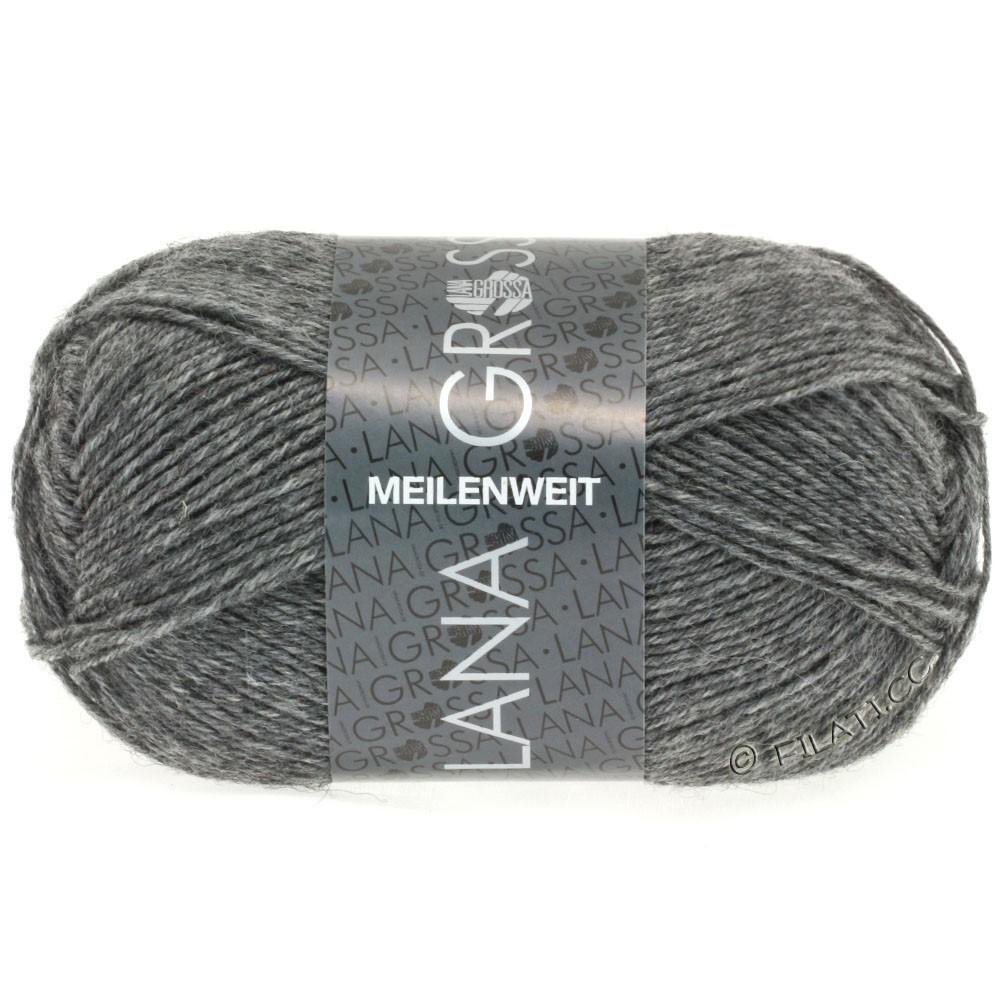 Lana Grossa MEILENWEIT 50g Uni | 1104-grå meleret