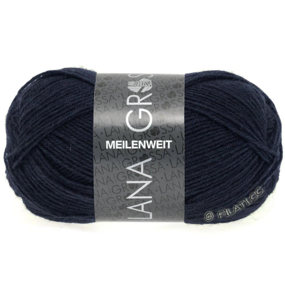 Lana Grossa MEILENWEIT 50g Uni | 1141-natblå
