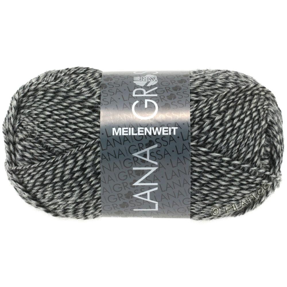 Lana Grossa MEILENWEIT 50g Uni | 1178-natur/grå/sort