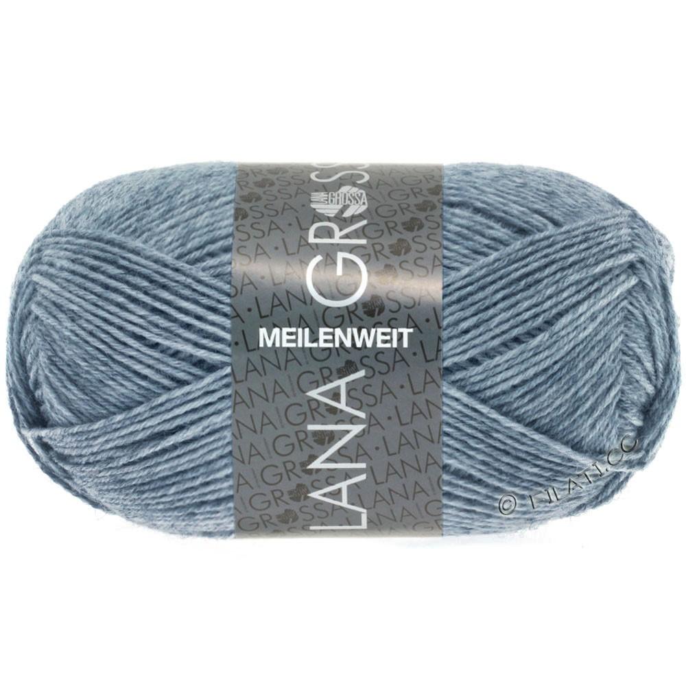 Lana Grossa MEILENWEIT 50g Uni | 1302-jeans/grå meleret