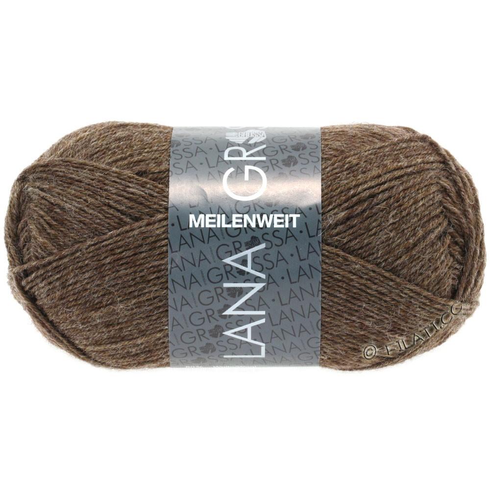 Lana Grossa MEILENWEIT 50g Uni | 1305-gråbrun