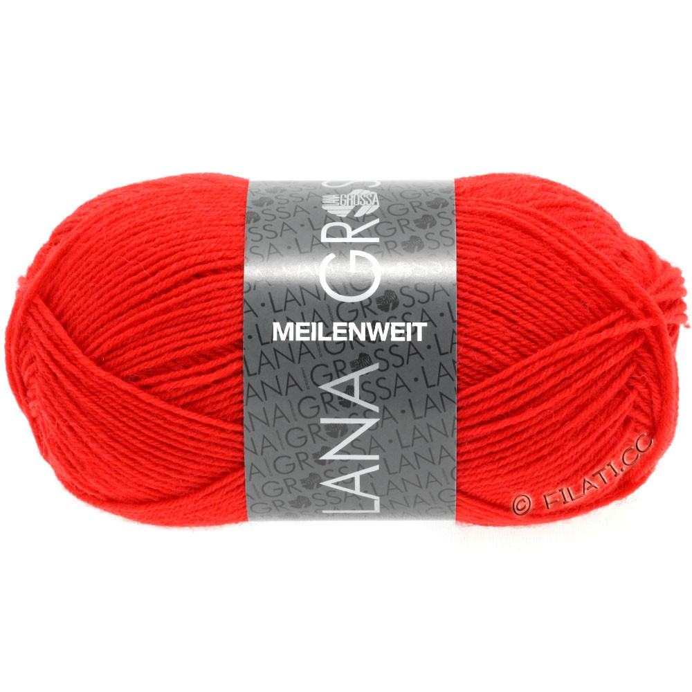 Lana Grossa MEILENWEIT 50g Uni | 1324-lys rød