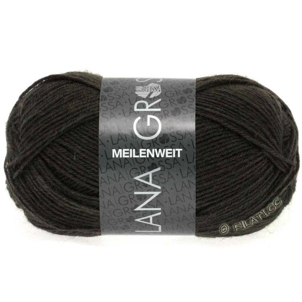 Lana Grossa MEILENWEIT 50g Uni | 1331-mørkebrun