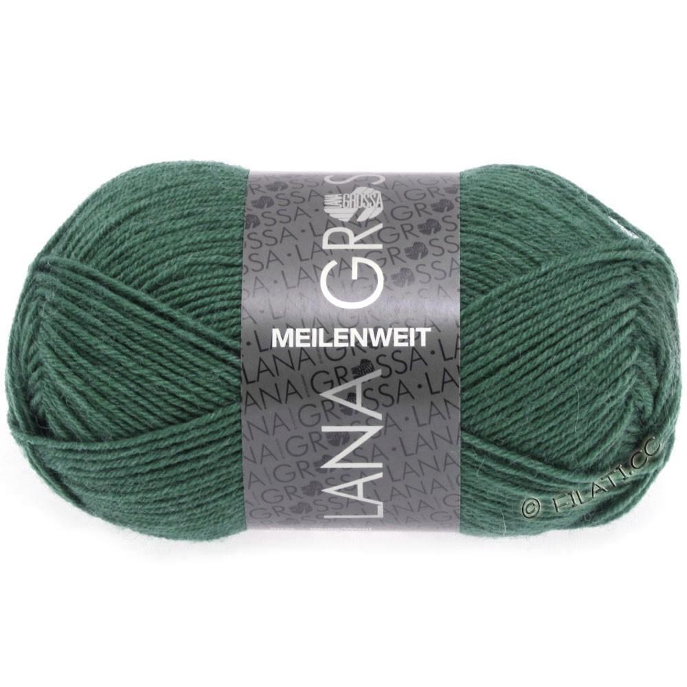 Lana Grossa MEILENWEIT 50g Uni | 1368-mørk sø grøn