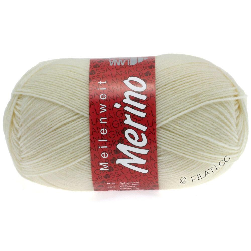 Lana Grossa MEILENWEIT 100g Merino Uni | 2009-rå hvid