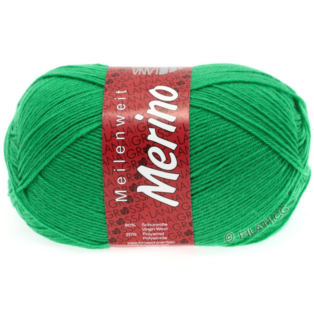 Lana Grossa MEILENWEIT 100g Merino Uni | 2031-smaragdgrøn