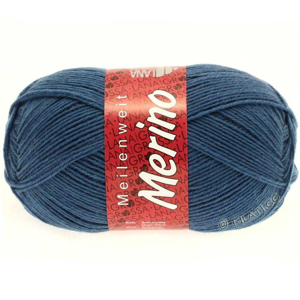 Lana Grossa MEILENWEIT 100g Merino Uni | 2033-kornblomst blå