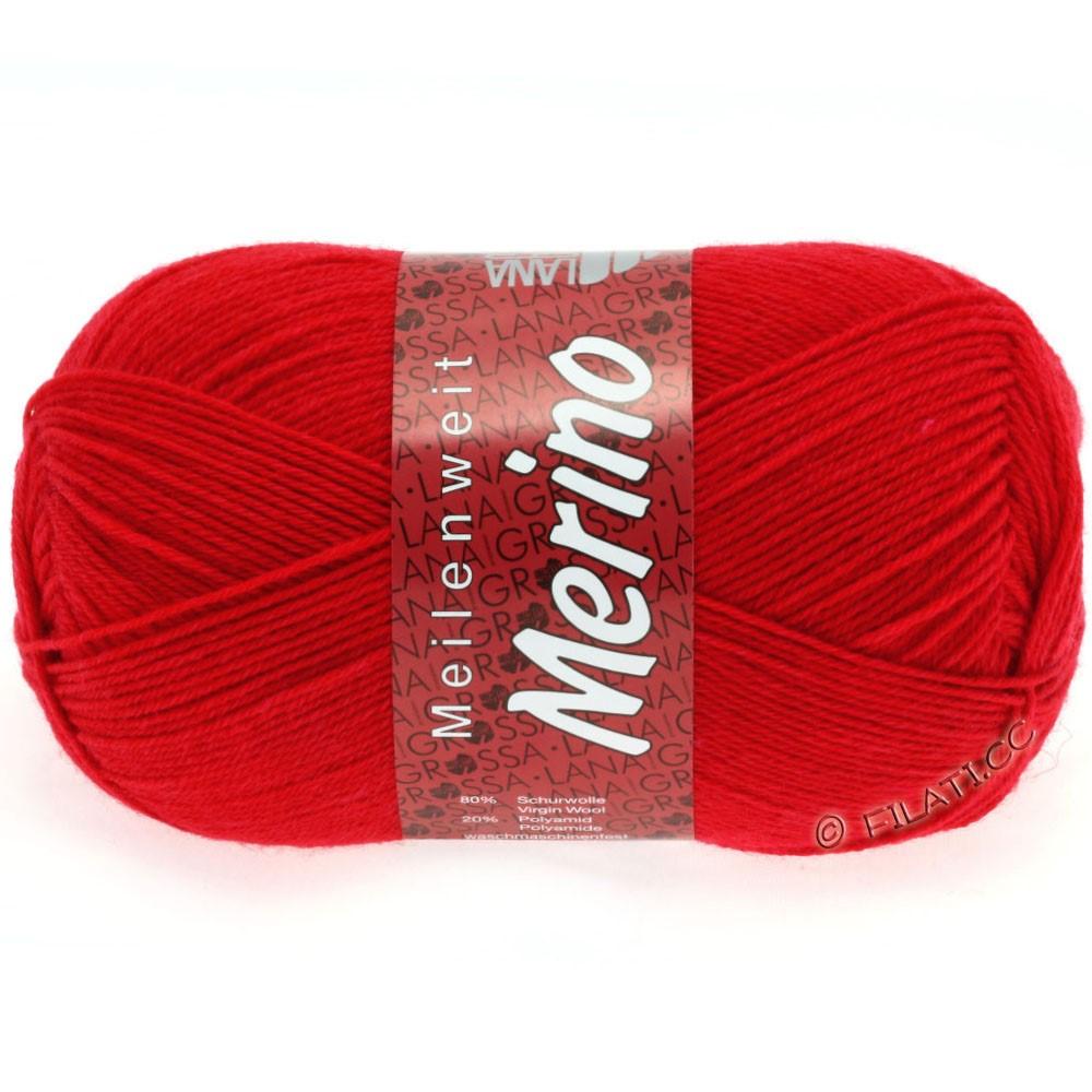 Lana Grossa MEILENWEIT 100g Merino Uni | 2037-rød