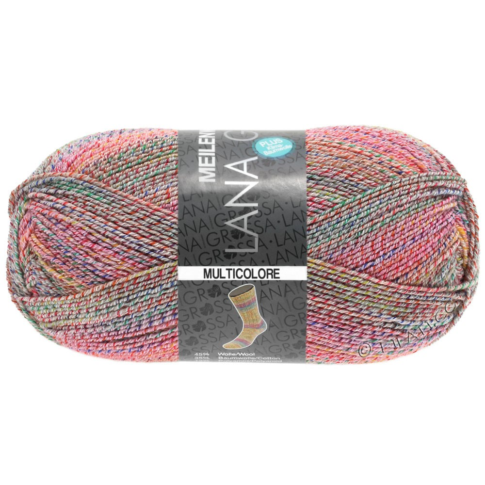 Lana Grossa MEILENWEIT 100g Cotton Stretch Print | 5732 - Multicolore-