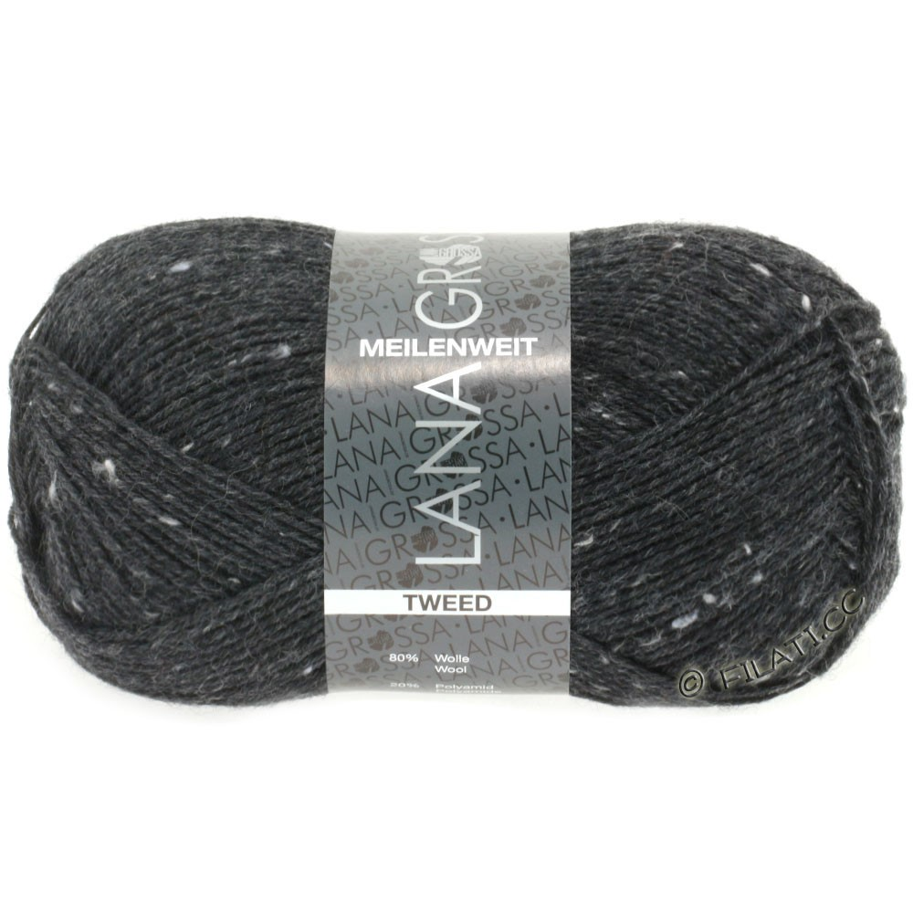 Lana Grossa MEILENWEIT 100g Tweed | 107-antracit