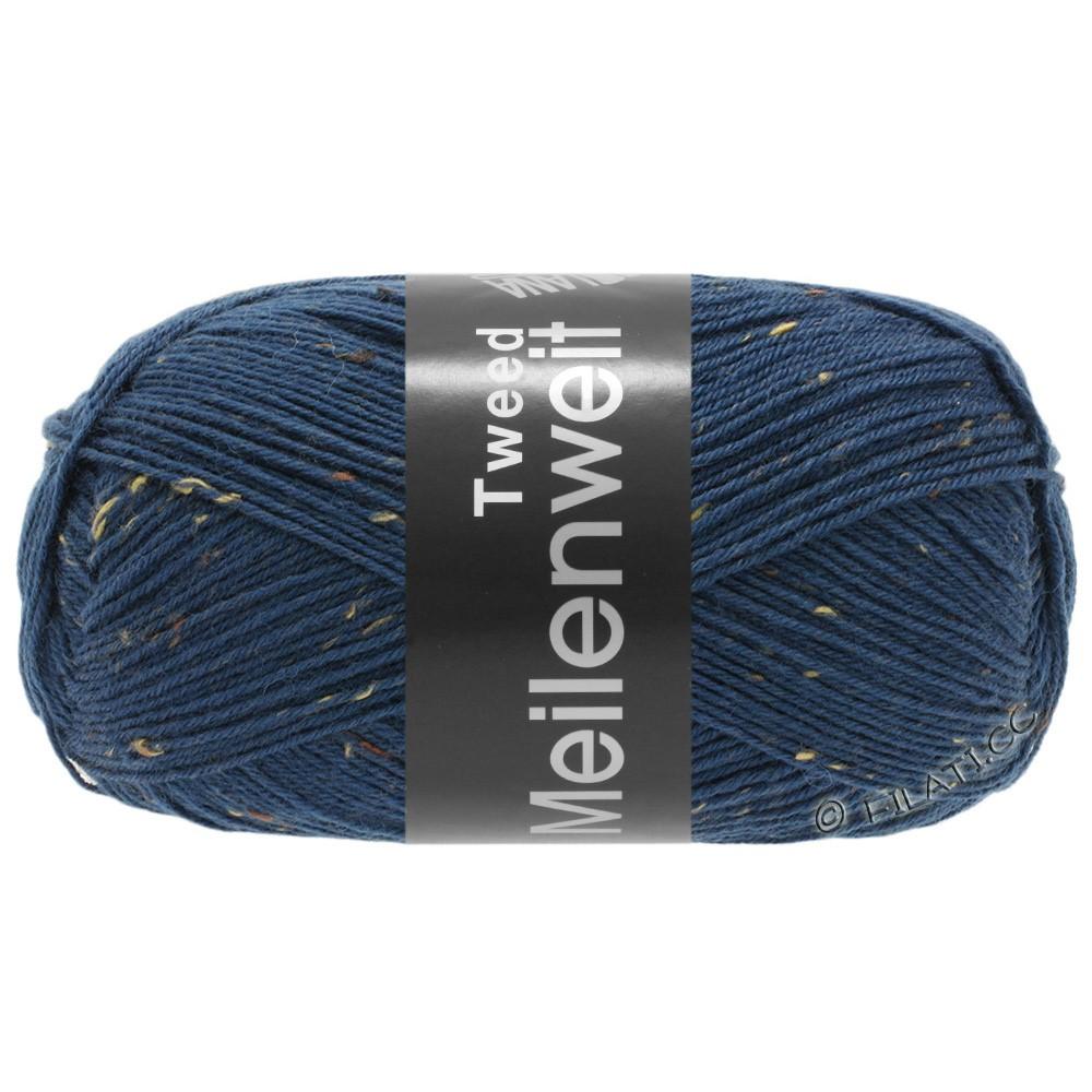 Lana Grossa MEILENWEIT 100g Tweed | 128-blå