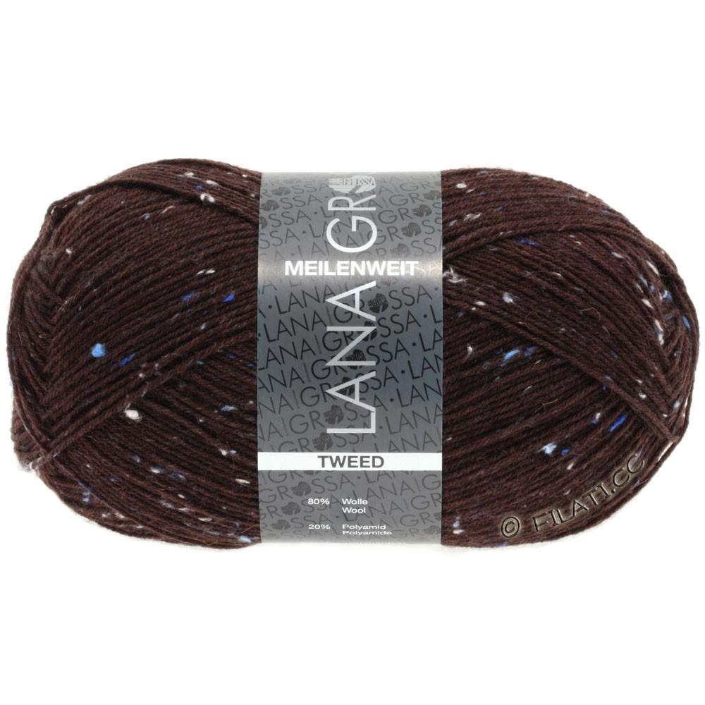 Lana Grossa MEILENWEIT 100g Tweed | 143-mørkerød
