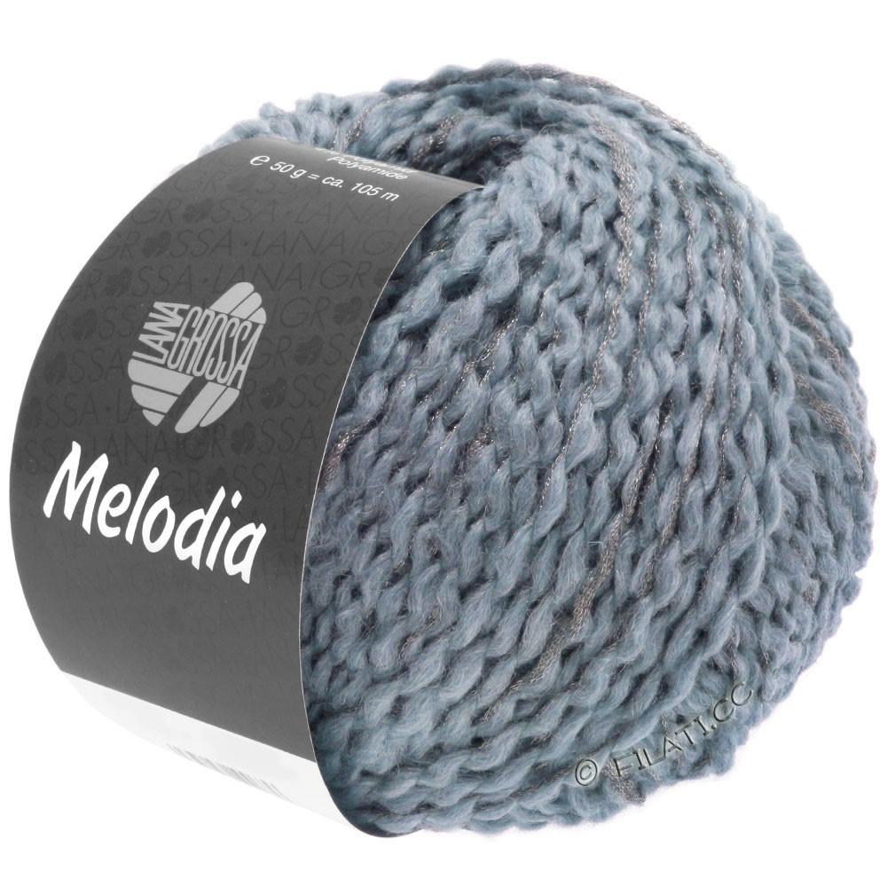 Lana Grossa MELODIA | 05-purpur blå/sølv