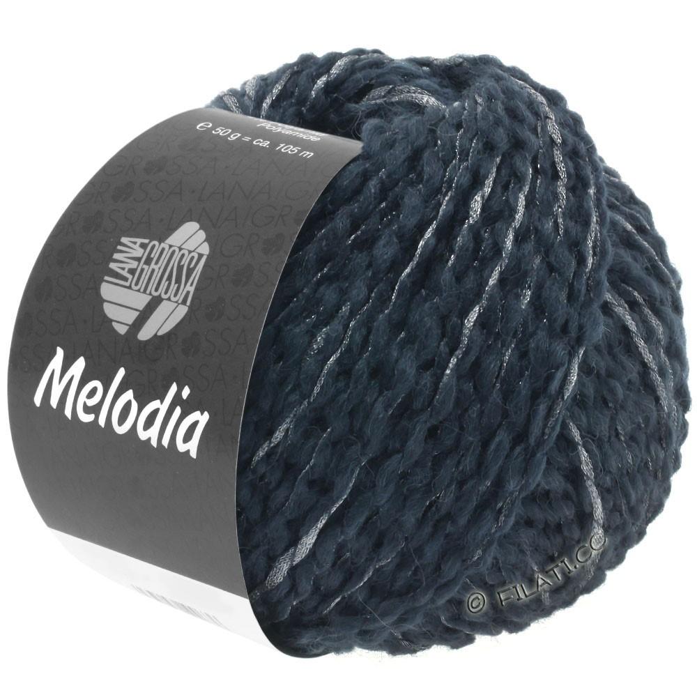 Lana Grossa MELODIA | 07-sortblå/sølv