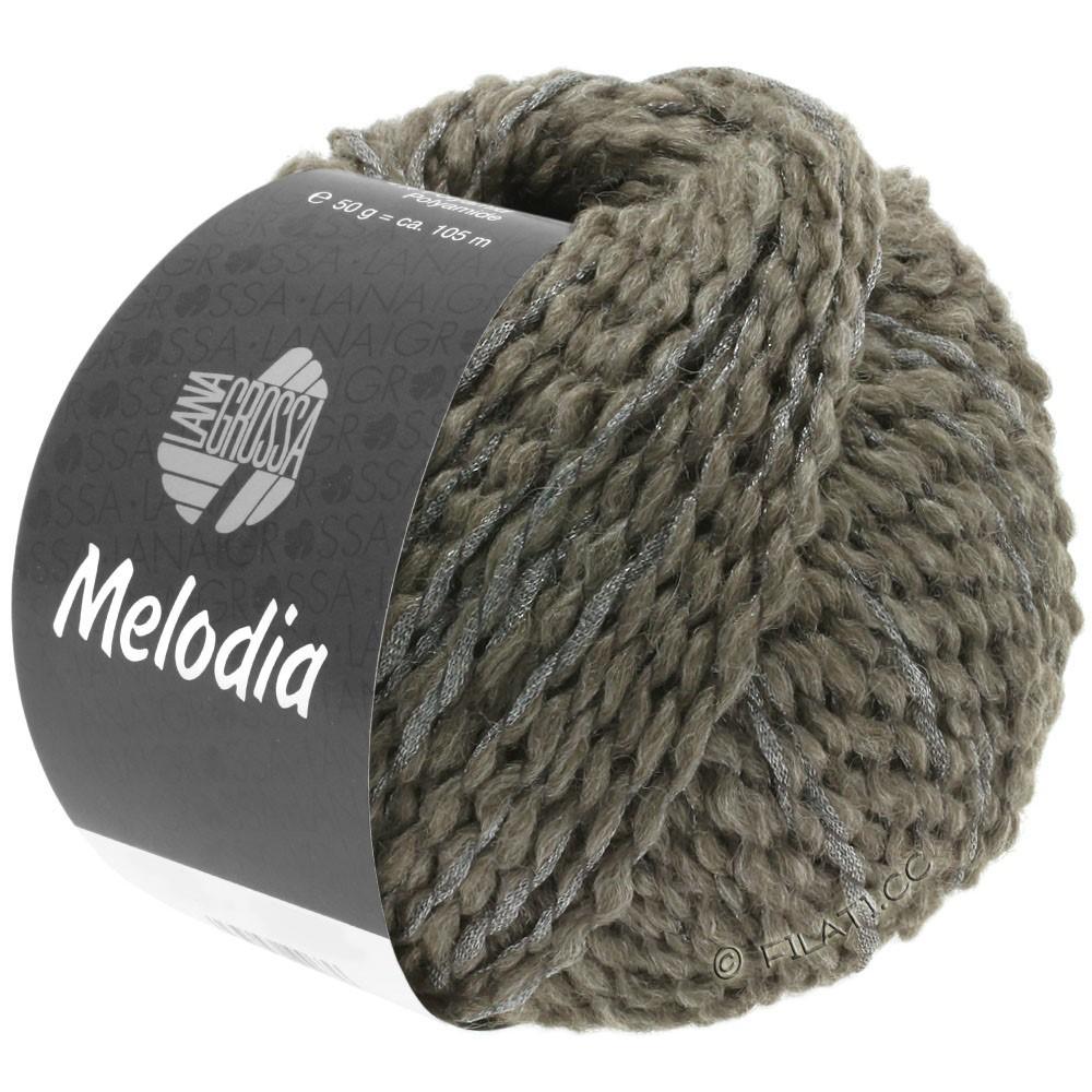 Lana Grossa MELODIA | 08-gråbrun/sølv