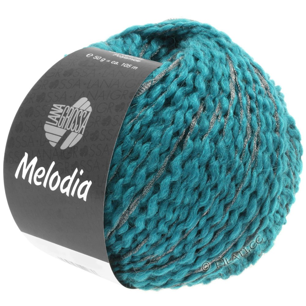 Lana Grossa MELODIA | 11-azurblå/sølv