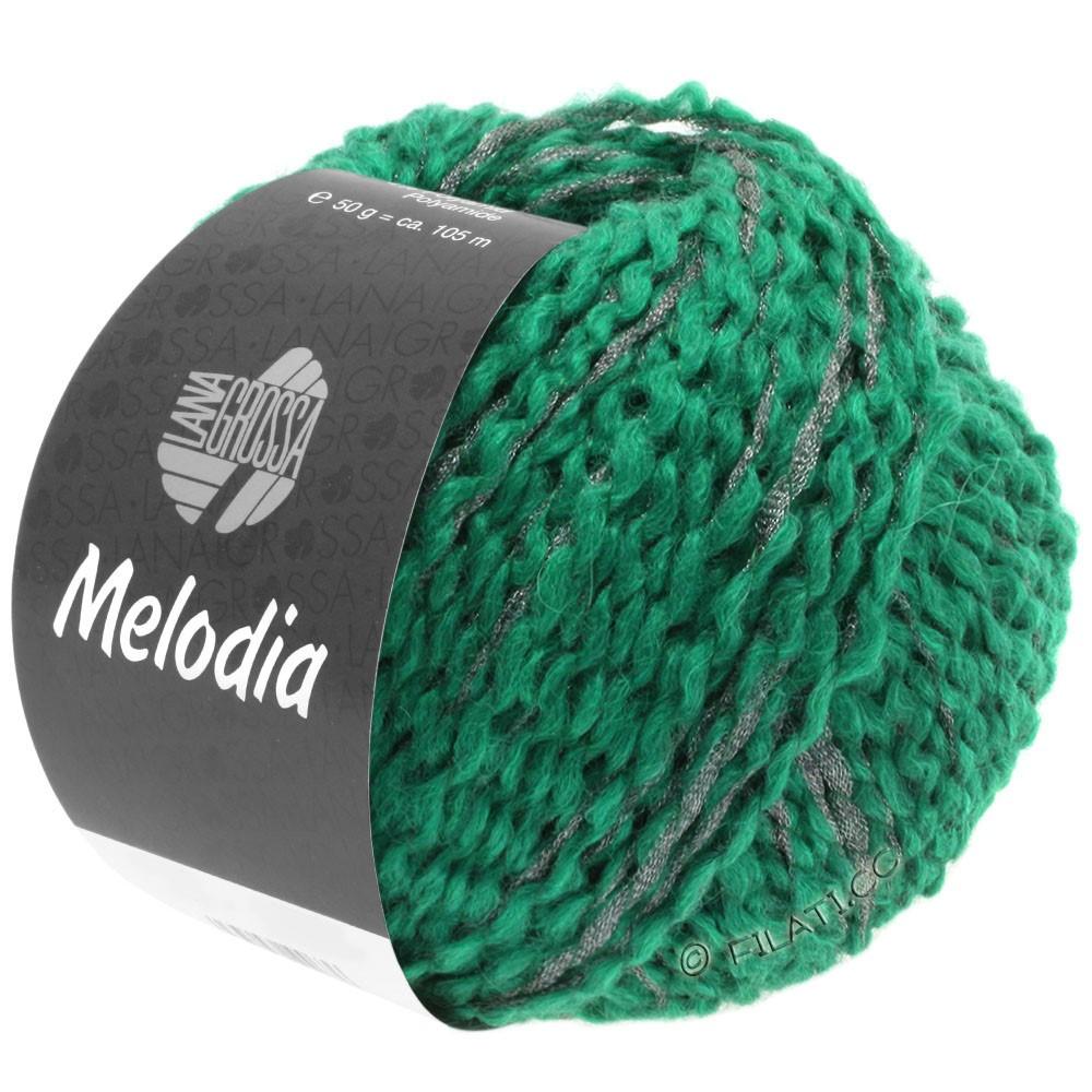 Lana Grossa MELODIA | 12-opalgrøn/sølv