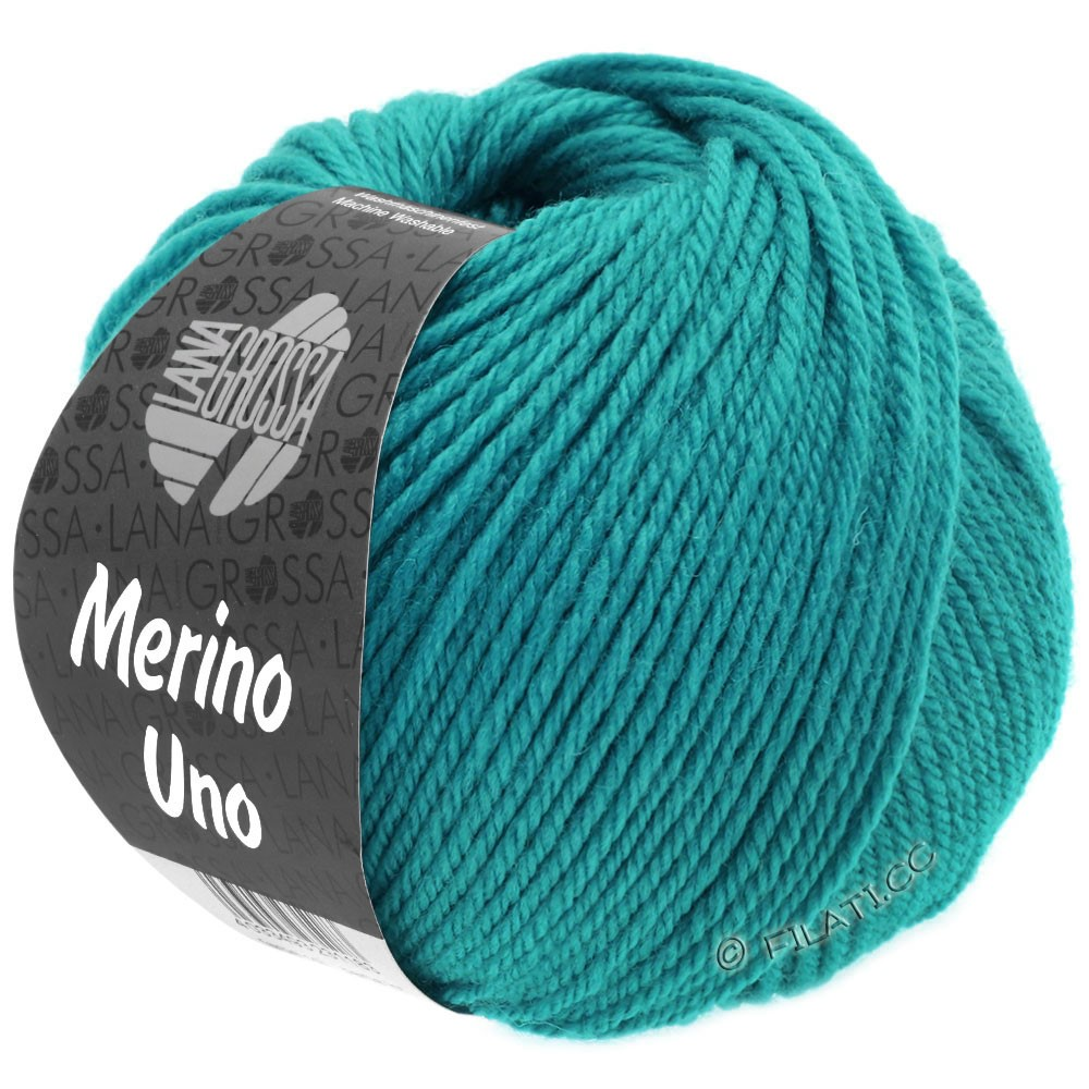 Lana Grossa MERINO UNO   07-turkisblå
