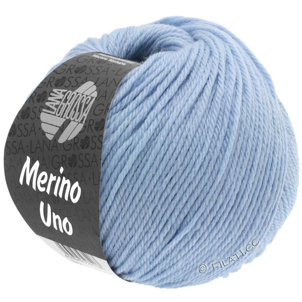 Lana Grossa MERINO UNO   08-lys blå