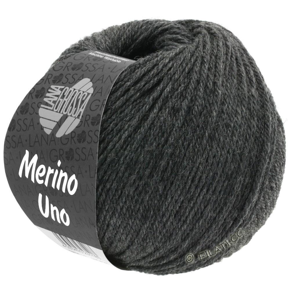 Lana Grossa MERINO UNO   11-mørk grå