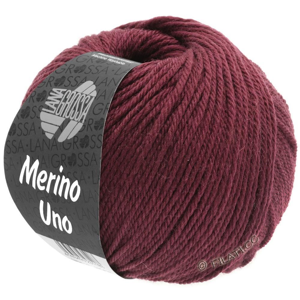Lana Grossa MERINO UNO   16-vinrød