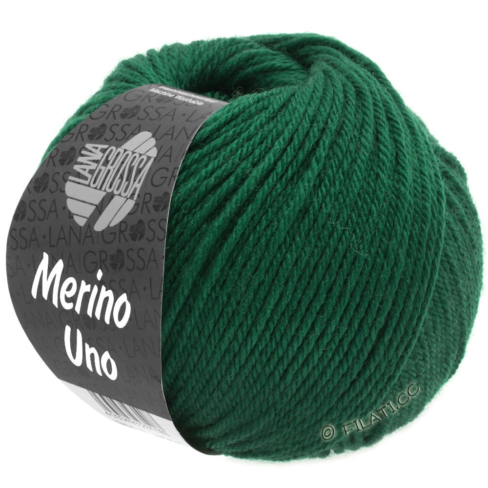 Lana Grossa MERINO UNO   22-flaskegrøn