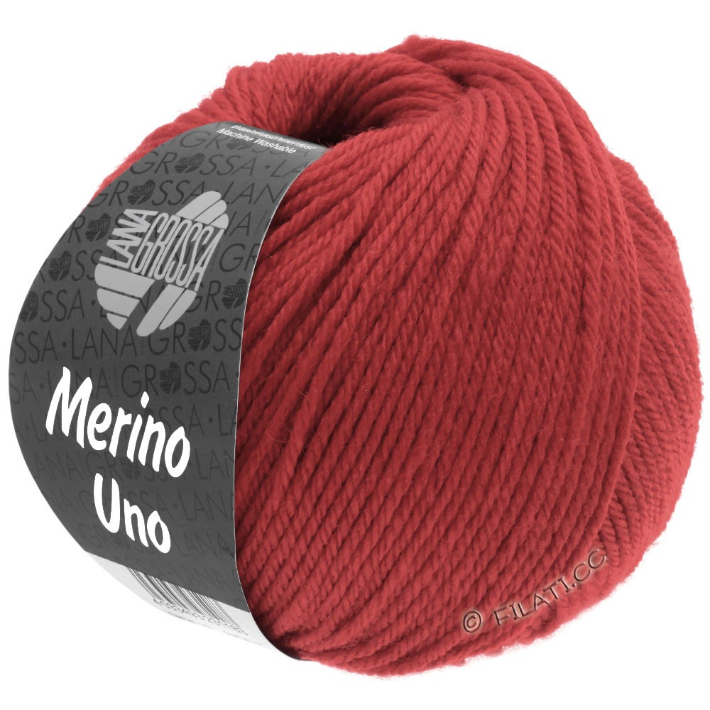 Lana Grossa MERINO UNO   31-mørk rød