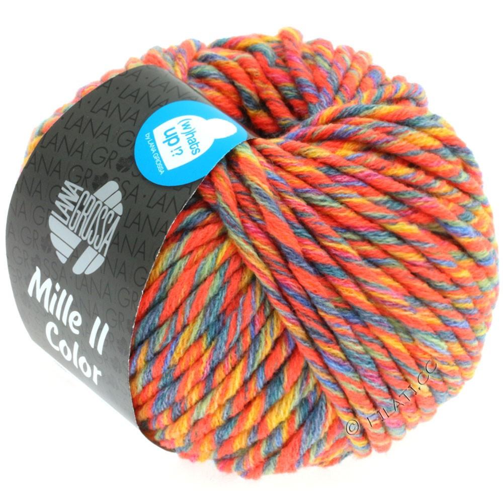 Lana Grossa MILLE II Color/Moulinè | 801-gyldengul/neon orange/grågrøn/jeans meleret