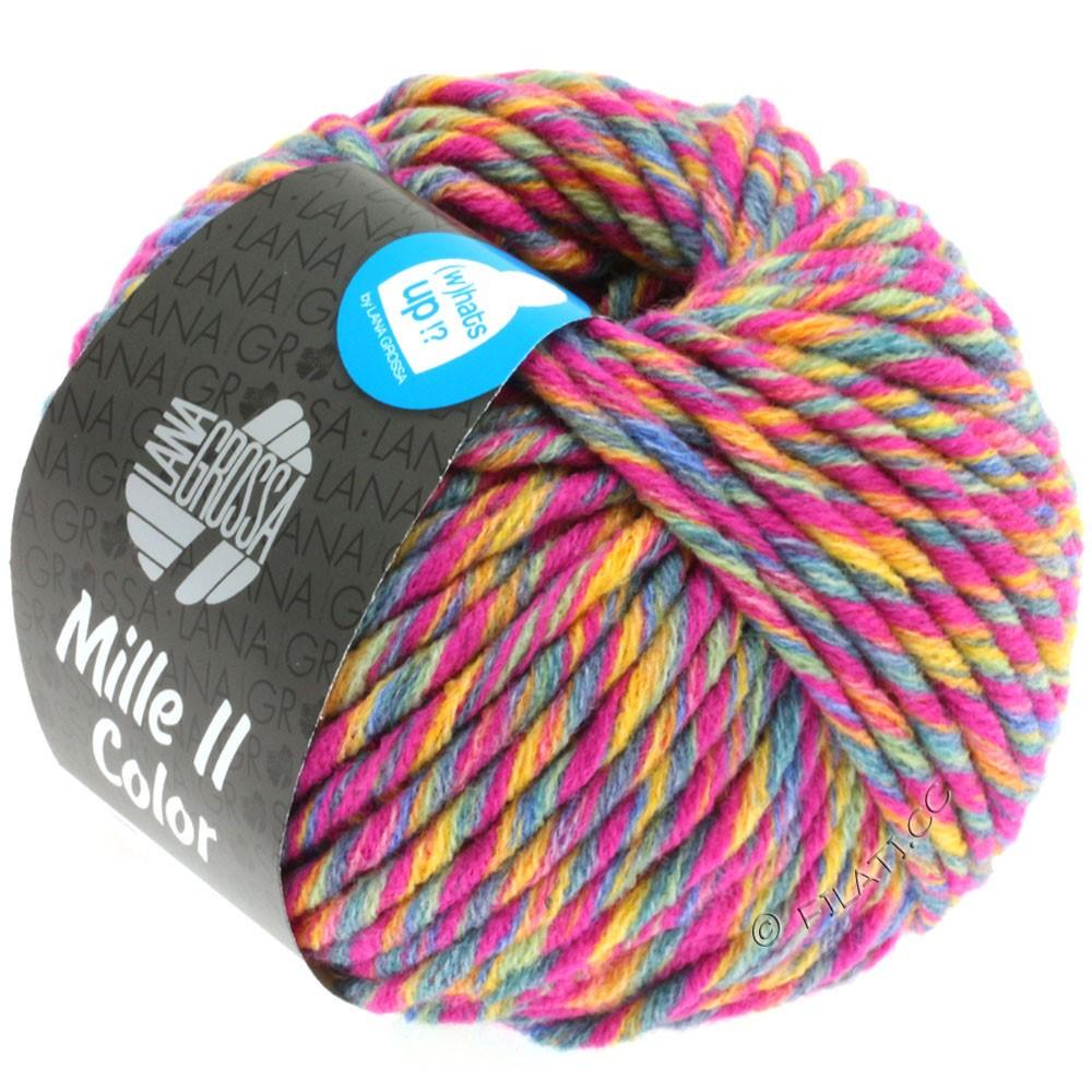 Lana Grossa MILLE II Color/Moulinè | 802-cyklamen/gyldengul/grågrøn/jeans meleret
