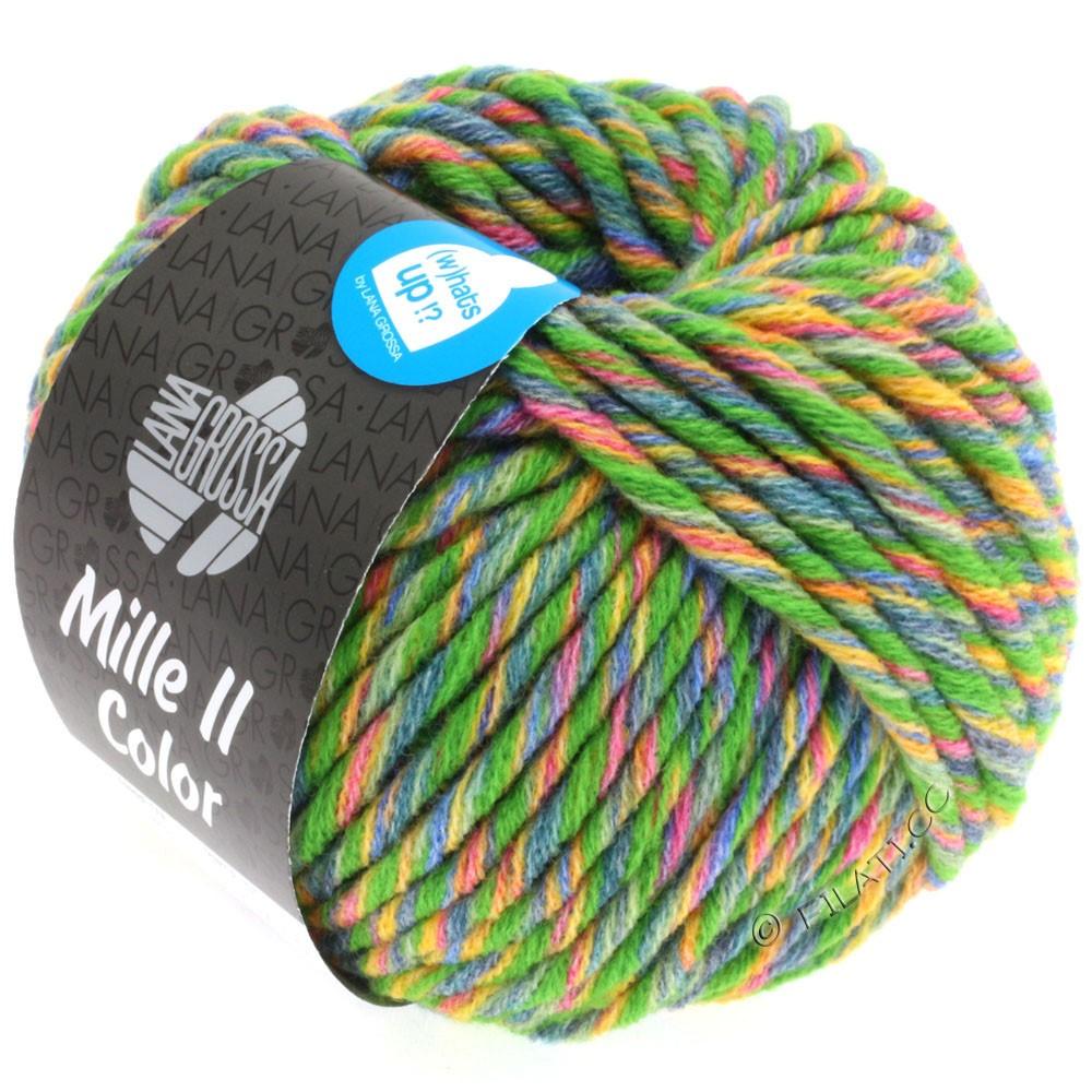 Lana Grossa MILLE II Color/Moulinè | 803-grøn/gul/rød/jeans/sartgrøn meleret