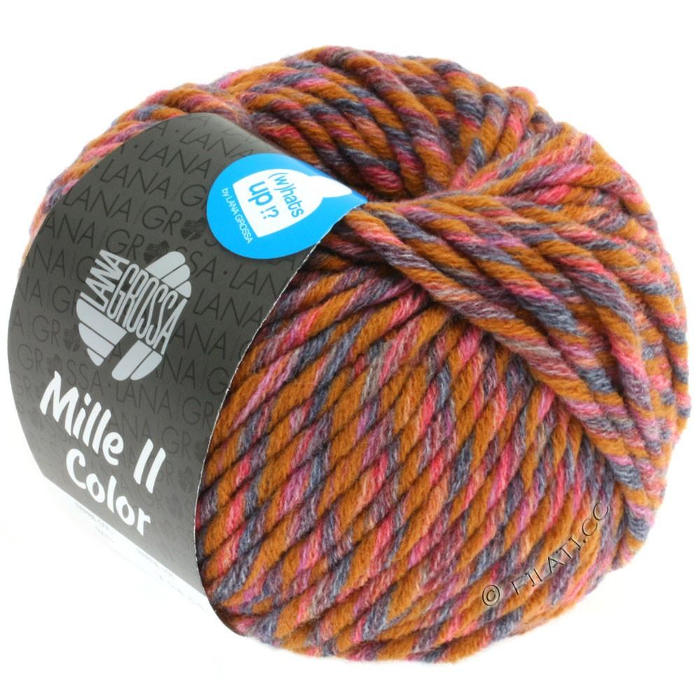 Lana Grossa MILLE II Color/Moulinè | 804-okker/rød/grå/antracit meleret