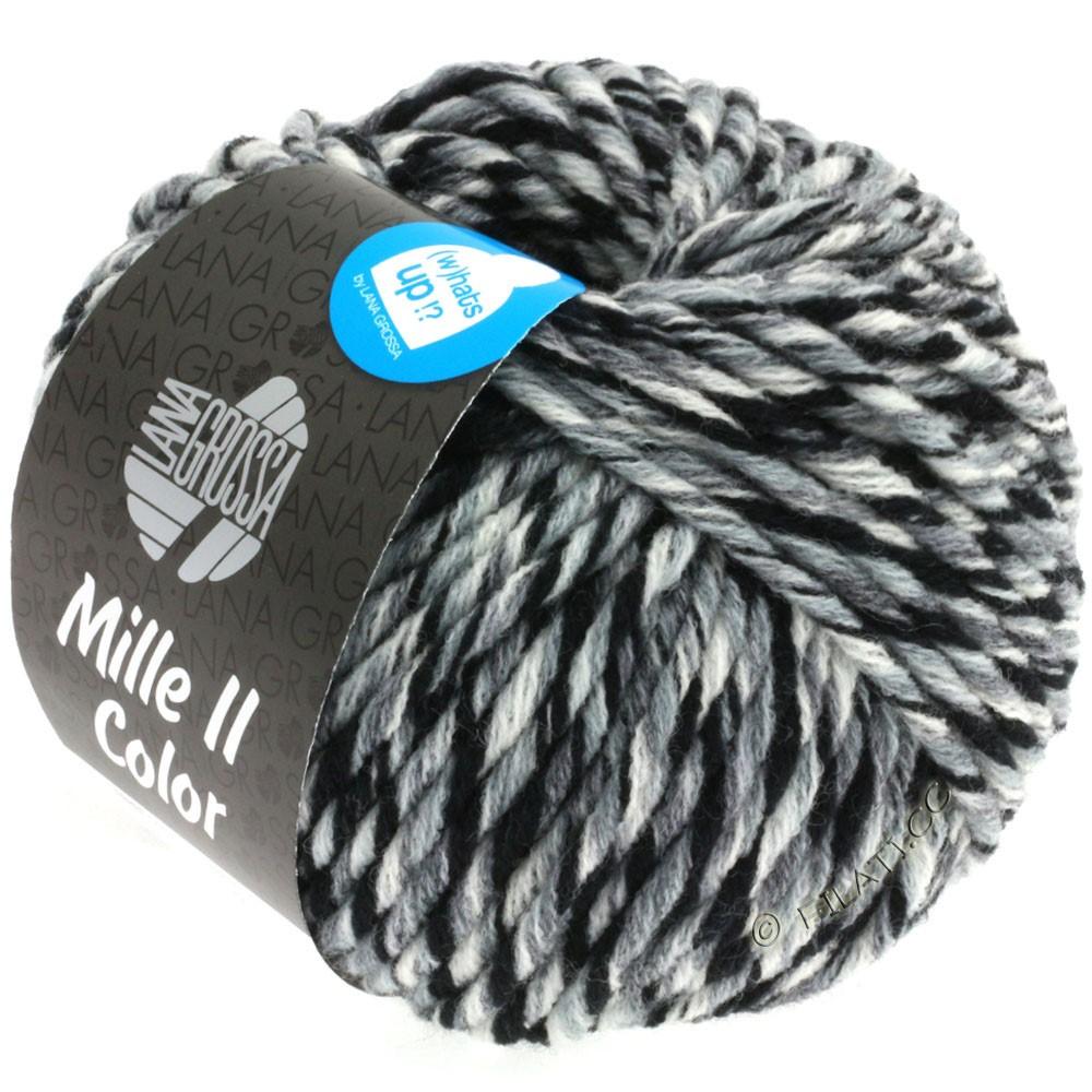 Lana Grossa MILLE II Color/Moulinè | 805-hvid/grå/sort meleret