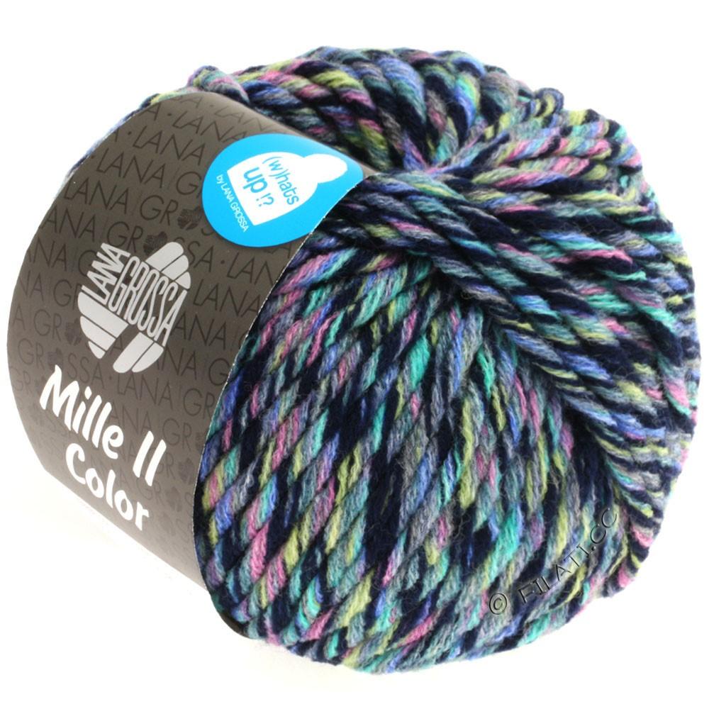 Lana Grossa MILLE II Color/Moulinè | 806-jeans/rosa/gul/turkis/natblå meleret