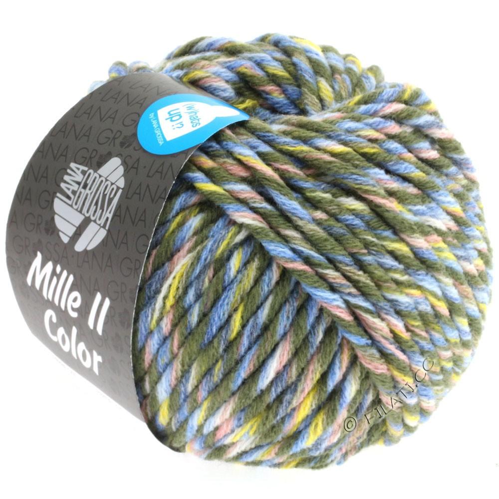 Lana Grossa MILLE II Color/Moulinè | 807-loden/gul/rosa/jeans/lyseblå meleret