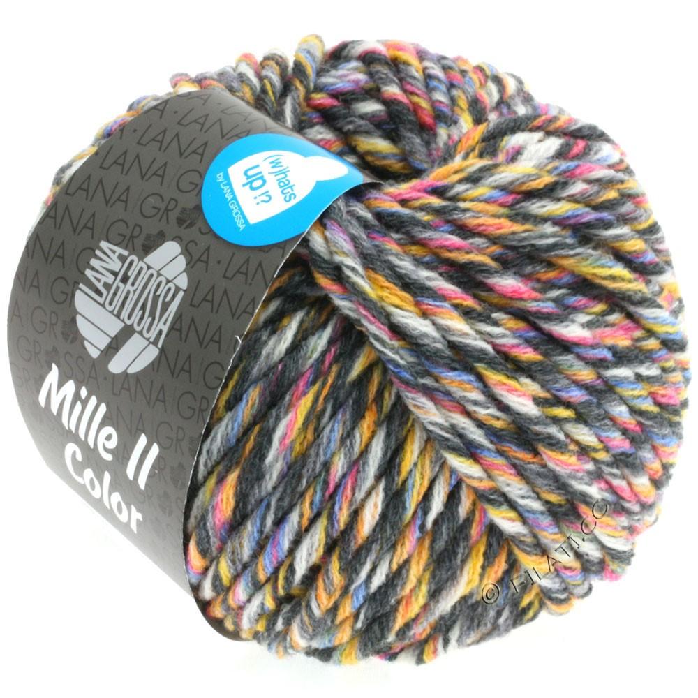 Lana Grossa MILLE II Color/Moulinè | 808-hvid/gul/rosa/lyseblå/grå/antracit meleret