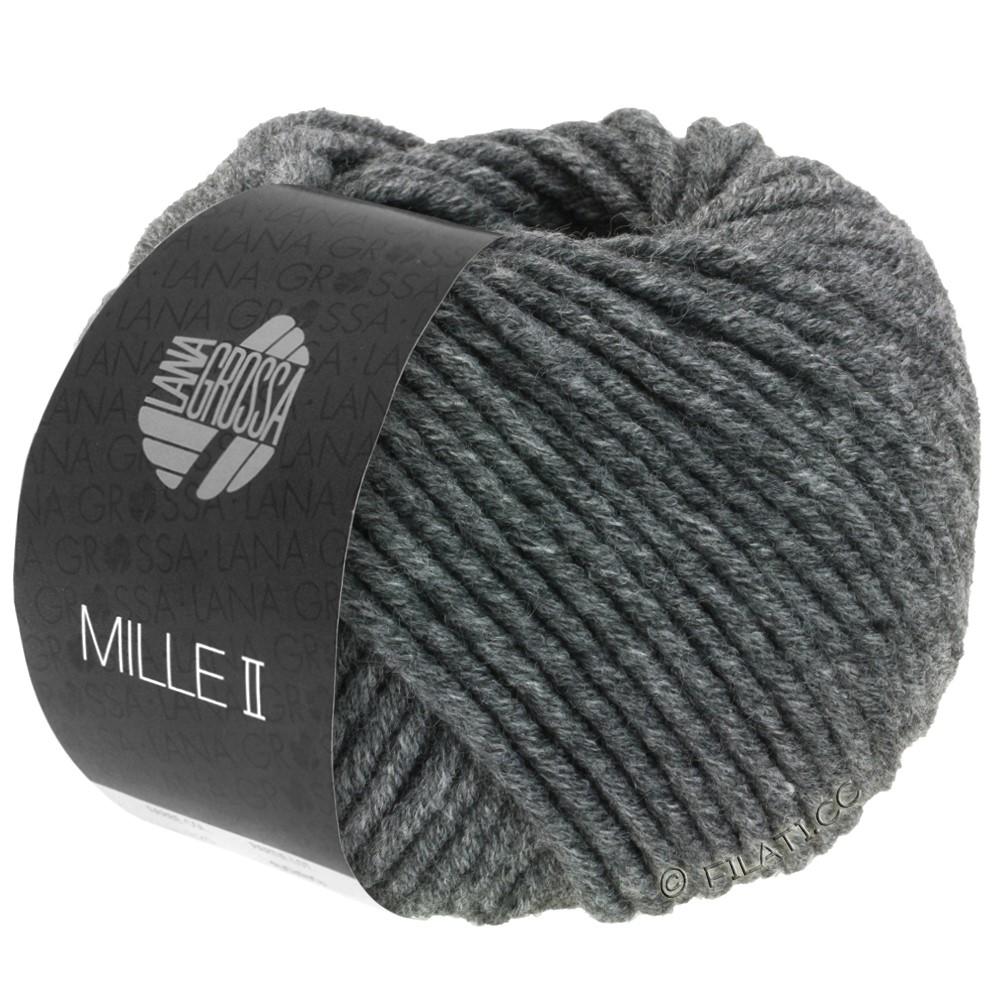 Lana Grossa MILLE II  Uni | 016-mørkegrå meleret