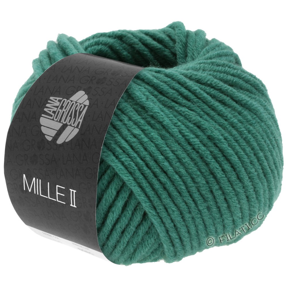 Lana Grossa MILLE II  Uni | 087-jade-grønne