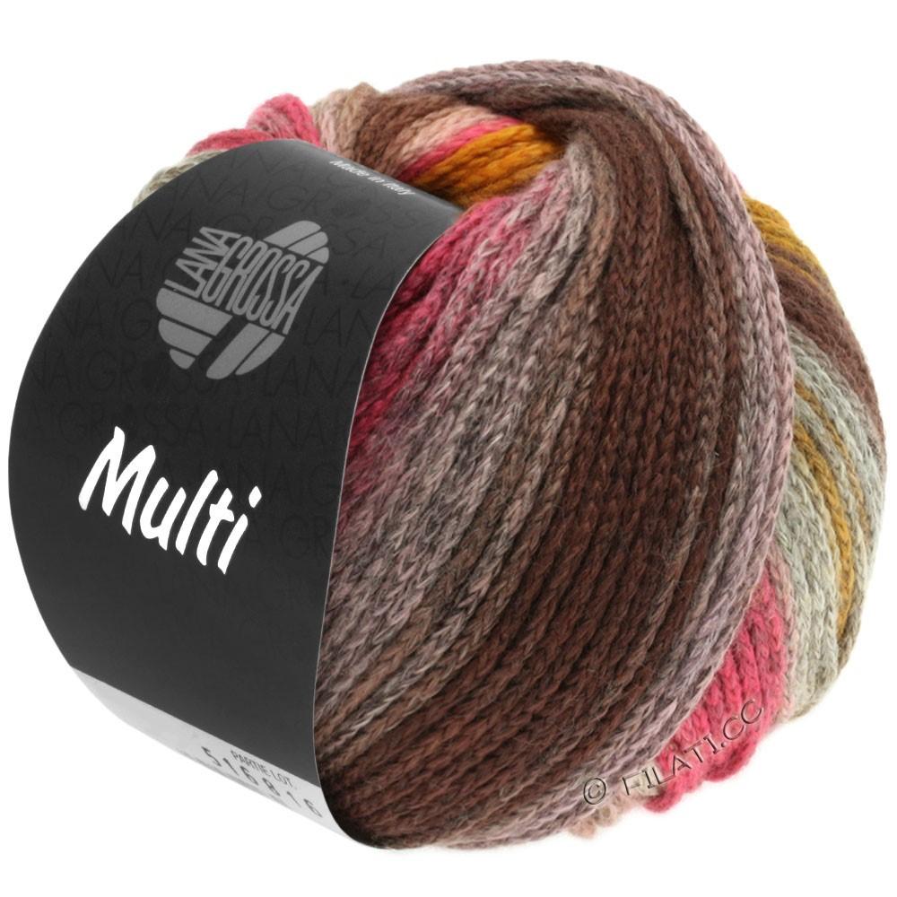 Lana Grossa MULTI | 07-gråbrun/orange/pink/rosa/gul