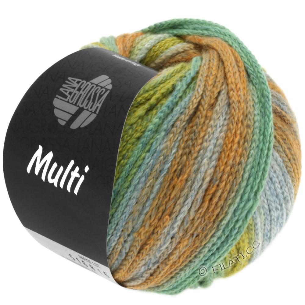 Lana Grossa MULTI | 08-gulgrøn/majsgul/turkisgrøn/kaki