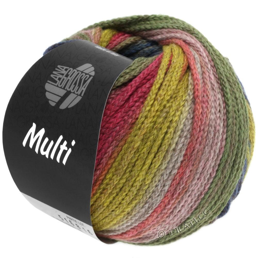Lana Grossa MULTI | 10-gul/lysegrøn/pink/brun/petrol/grågrøn