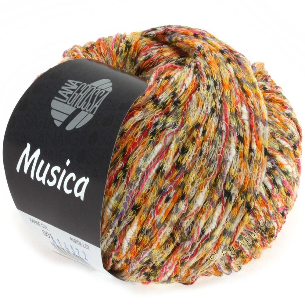 Lana Grossa MUSICA | 01-orange/gul/pink/grå/hvid